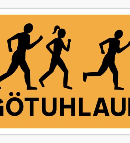 Organized Street Running, Traffic Sign, Iceland Sticker