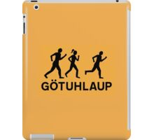 Organized Street Running, Traffic Sign, Iceland iPad Case/Skin