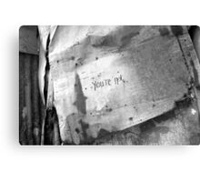 you're not Canvas Print