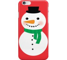 Snowman, Christmas Snowman, Christmas Art iPhone Case/Skin