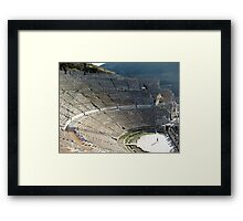 Ephesus Theater Framed Print