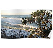 Sunset at Burleigh Poster