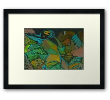 A woman in dazzle Framed Print
