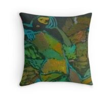 A woman in dazzle Throw Pillow