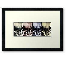 Strings escaping in different ways... Framed Print