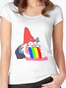 Gnome puking happiness - Gravity Falls Women's Fitted Scoop T-Shirt