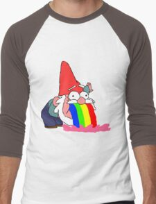 Gnome puking happiness - Gravity Falls Men's Baseball ¾ T-Shirt