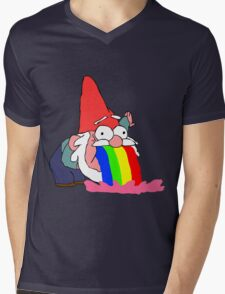 Gnome puking happiness - Gravity Falls Mens V-Neck T-Shirt