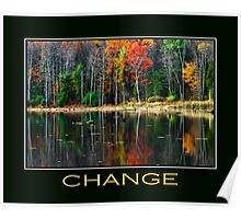 Change Inspirational Art Poster