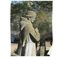 St. Francis Statue, Glastonbury Abbey Poster
