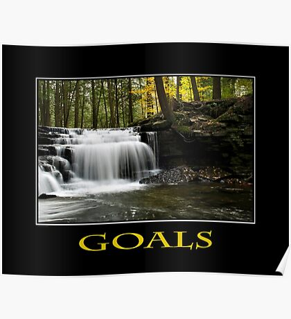 Goals Inspirational Art Poster