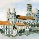 Cathédral at Angoulême, France by ian osborne