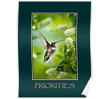 Priorities Inspirational Art Poster