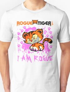 RogueTiger.com - Smirk Logo Pink (light) T-Shirt