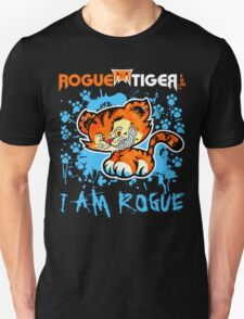 RogueTiger.com - Smirk Logo Light Blue (dark) T-Shirt
