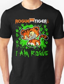 RogueTiger.com - Smirk Logo Green (dark) T-Shirt