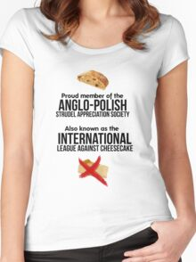 The Anglo-Polish Strudel Appreciation Society Women's Fitted Scoop T-Shirt