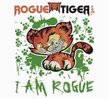 RogueTiger.com - Smirk Logo Green (light) by roguetiger