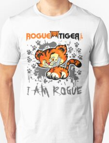 RogueTiger.com - Smirk Logo Gray (light) T-Shirt