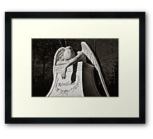 Weeping Angel II - sepia Framed Print