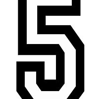 5, TEAM SPORTS, NUMBER 5, FIFTH, FIVE, Competition,  by TOM HILL - Designer