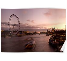 Speeding through the Thames Poster