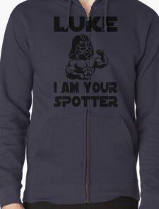 Star Wars Darth Vader Luke I Am Your Spotter Gym Mashup Zipped Hoodie