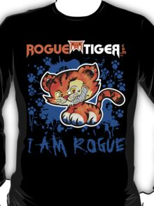 RogueTiger.com - Smirk Logo Blue (dark) T-Shirt