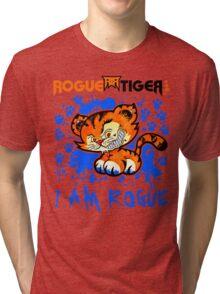 RogueTiger.com - Smirk Logo Blue (light) Tri-blend T-Shirt