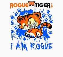 RogueTiger.com - Smirk Logo Blue (light) Unisex T-Shirt