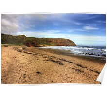 The Beach at Pease Bay Poster