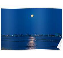 Murrells Inlet, South Carolina Super Moon Poster