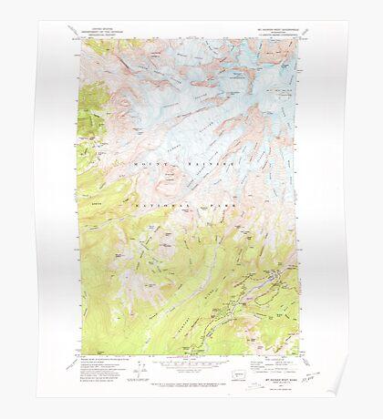 USGS Topo Map Washington State WA Mt Rainier West 242660 1971 24000 Poster