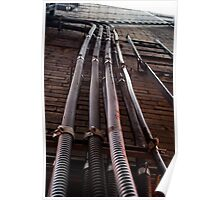 Pipes On A Wall Poster