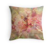 Peach blossom pattern Throw Pillow