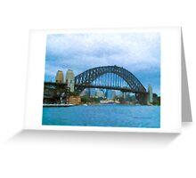 Sydney Harbour Bridge painting Greeting Card