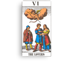 The Lovers Tarot Canvas Print