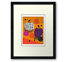 Yar - pumpkin halloween fall autumn throwback retro style fashion urban trendy 1980s 1980 80s 80's Framed Print
