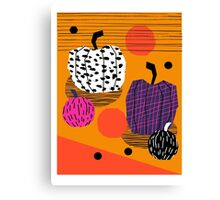 Yar - pumpkin halloween fall autumn throwback retro style fashion urban trendy 1980s 1980 80s 80's Canvas Print
