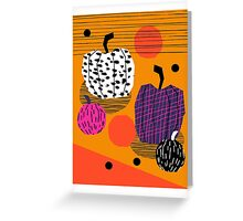 Yar - pumpkin halloween fall autumn throwback retro style fashion urban trendy 1980s 1980 80s 80's Greeting Card