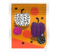 Yar - pumpkin halloween fall autumn throwback retro style fashion urban trendy 1980s 1980 80s 80's Poster