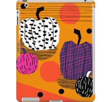 Yar - pumpkin halloween fall autumn throwback retro style fashion urban trendy 1980s 1980 80s 80's iPad Case/Skin