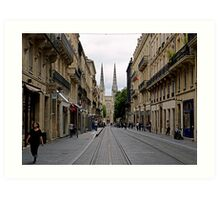 Towards the cathedral Art Print