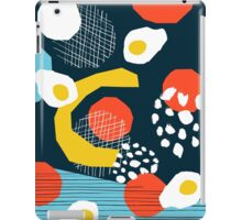 Clutch - vintage memphis style retro throwback 1980s 1980's 80s 80's design illustration pop art iPad Case/Skin