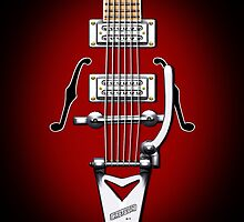 Classic Vintage Guitar iPhone case by Steve Crompton
