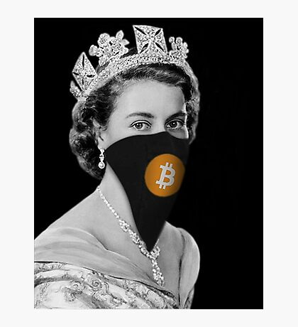 Queen Bitcoin Bandit Geek Photographic Print