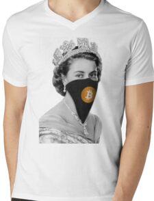 Queen Bitcoin Bandit Geek Mens V-Neck T-Shirt