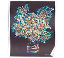 Neon Bouquet Poster