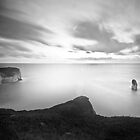 Flamborough Sunrise (Black and White) by ThePingedHobbit