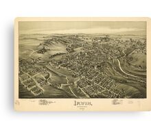 Panoramic Maps Irwin Pennsylvania 1897 Canvas Print